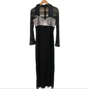 Mr K Sz 10 Black White Formal Ball Room Dress